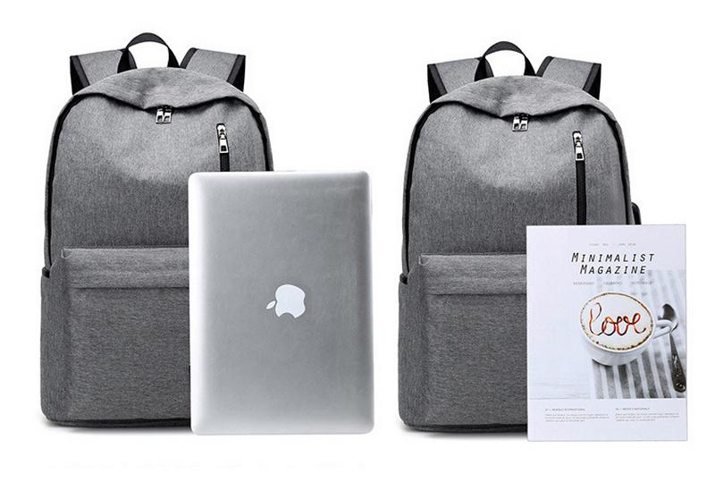 حقيبة مدرسية سوداء USB 10
