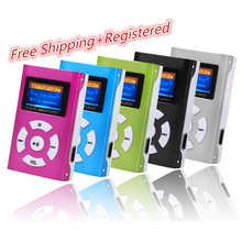 Portable USB Mini MP3 Player LCD Screen Support Micro SD TF Card With Sport Design Free Shipping NOJ02(China)