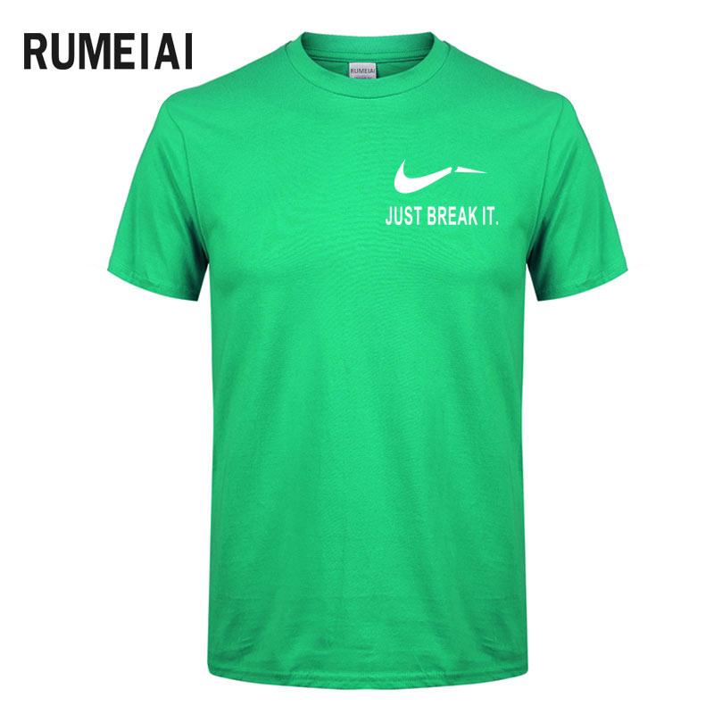 RUMEIAI Fashion Men T-Shirts Male US Size T shirt Homme Summer cotton Short Sleeve T Shirts Brand Men's Tee Shirts Man Clothes 4