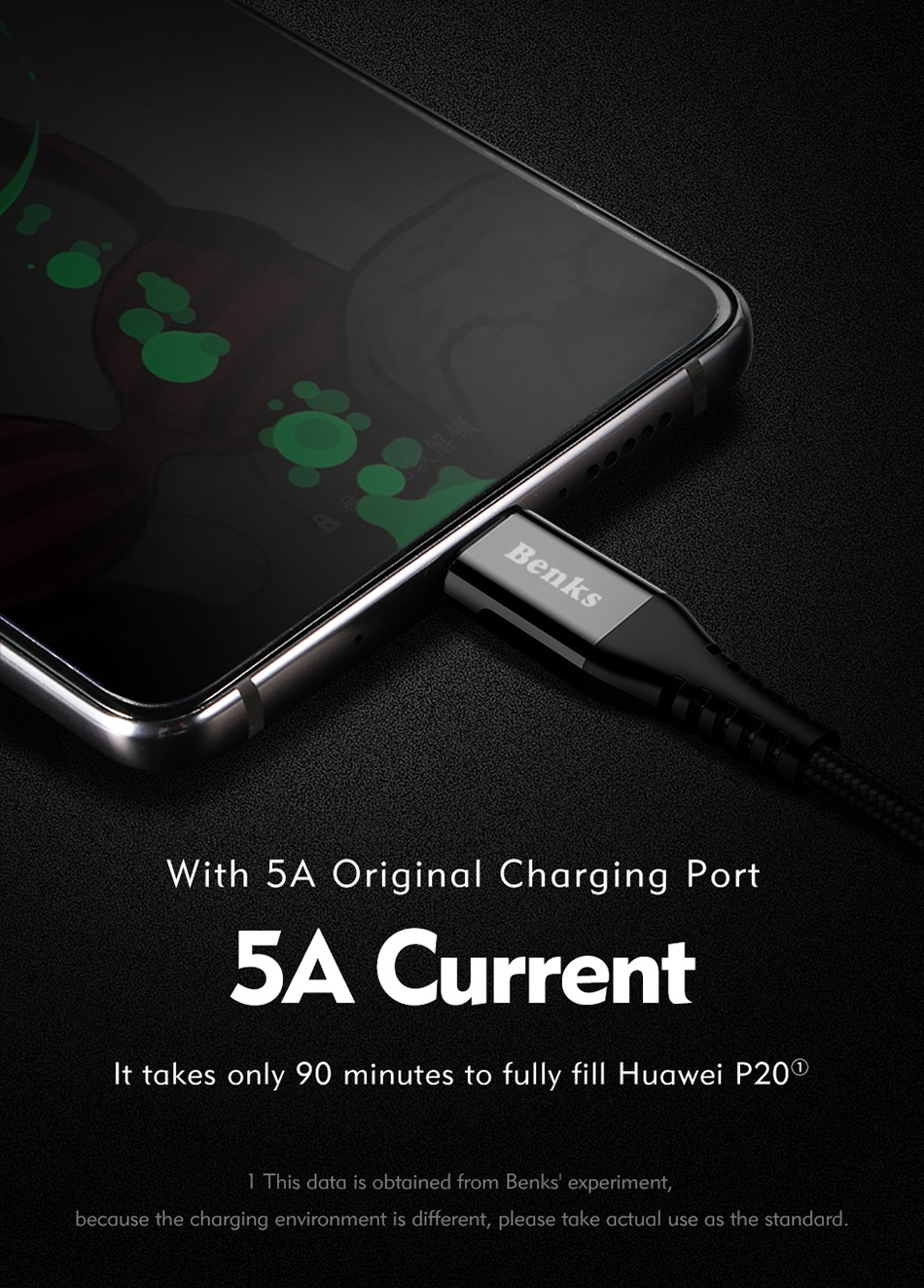 Benks Nylon USB Type C Fast Charging Cable For Samsung S8 S9 Huawei P10 P9 Plus Xiaomi 6 5 Android  Phone 5A Charger Cables 1 (3)