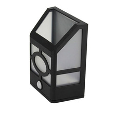 TAMPROAD Motion Sensor Solar Powered Wall Mount LED Light Outdoor Garden Path Landscape Fence Yard Gutter Lamp Lantern Lighting(China)