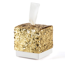 10Pcs Bling Sequin Gift Box Present Packaging Caixa Candy Box DIY Wedding Favor Gifts Marriage Embalagem Wedding Decor Supplies
