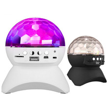 RGB Color Changing Party/ Disco DJ Bluetooth Speaker With Built-In Light Show Stage & Studio Effects Lighting LED Crystal Ball