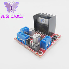 FREE SHIPPING 2pcs/lot 100% New and original L298N motor driver board module for arduino stepper motor smart car robot