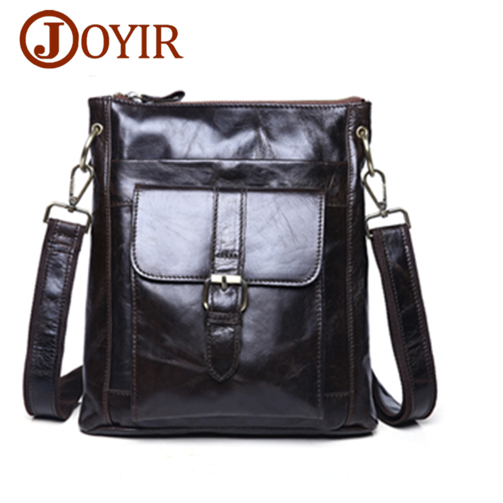 JOYIR Luxury Cowhide Men Bags Genuine Leather Shoulder Bag Male Zipper Handbags Fashion Messenger Bags Crossbody Bag<br>