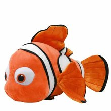 "Free Shipping 40cm=15.7"" Finding Nemo Movie soft plush doll,1piece Cute Nemo Fish Stuffed Animal Plush Toys for baby gift(China)"