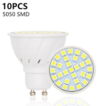 10pcs/lot SMD 5050 Lampada LED Lamp 220V Lamparas LED Spotlight GU10 Candle Chandelier Ampoule LED Bulbs GU 10 Bombillas