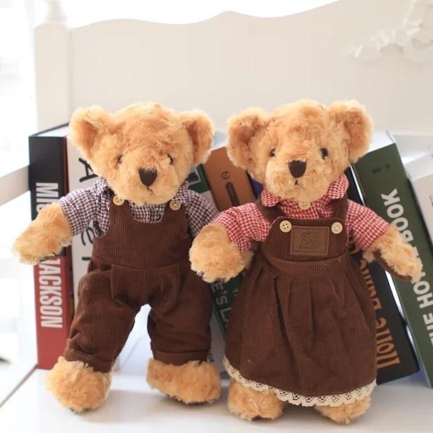 40cm Size New Arrived Teddy Bear Plush Toy Lovers Teddy Bear Soft Gift Wedding Gift  1pair/lot<br>