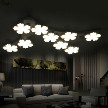 2016 Post-Modern Plum Blossom Led Dimmable Chandelier Modern Luxury Art Deco Iron Branch Ceiling Chandelier(China)