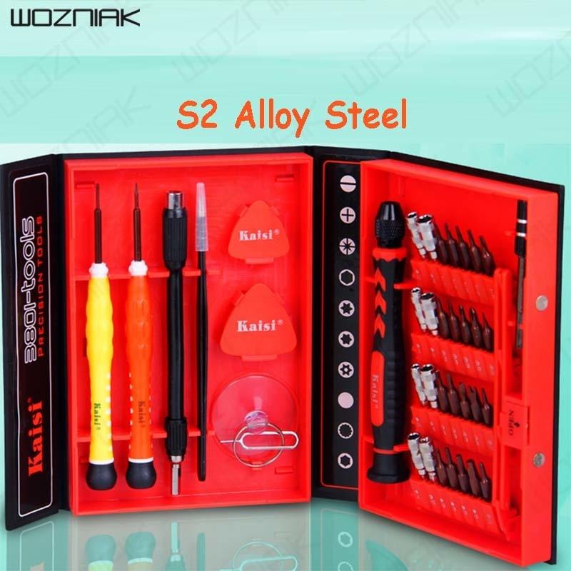 Wozniak 38 In 1 Screwdriver Set Precision Repair Disassemble Tools Kit S2 Alloy Steel Material For Phone Computer Crowbar<br>
