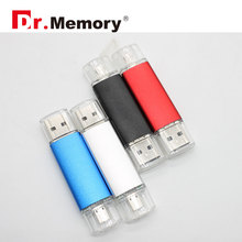 Dr.memory otg USB Flash Drive android Pen Drive 4g 16gb 32gb USB Stick tiny usb Pendrive funny U Disk memoia stick USB 2.0 metal