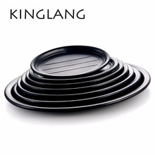 MELAMINE oval serving plate for restaurant hot sale cheap plastic dish many sizes for wholesale