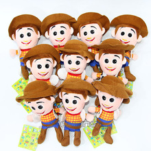 Toy Story Woody Buzz Lightyear Mini Plush Pendant Toys Soft Stuffed Animal Dolls 10pcs/lot 2 Styles(China)