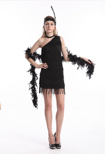 free pp ZT459-1 black flapper costume Real picture  2015 Ladies Black Flapper Costume Fancy Dress halloween costume