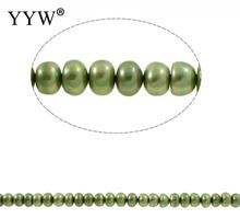 free shipping bulk beads Cultured Freshwater Pearl Beads for making diy Jewelry Bracelet necklace natural green Strand Ornaments(China)