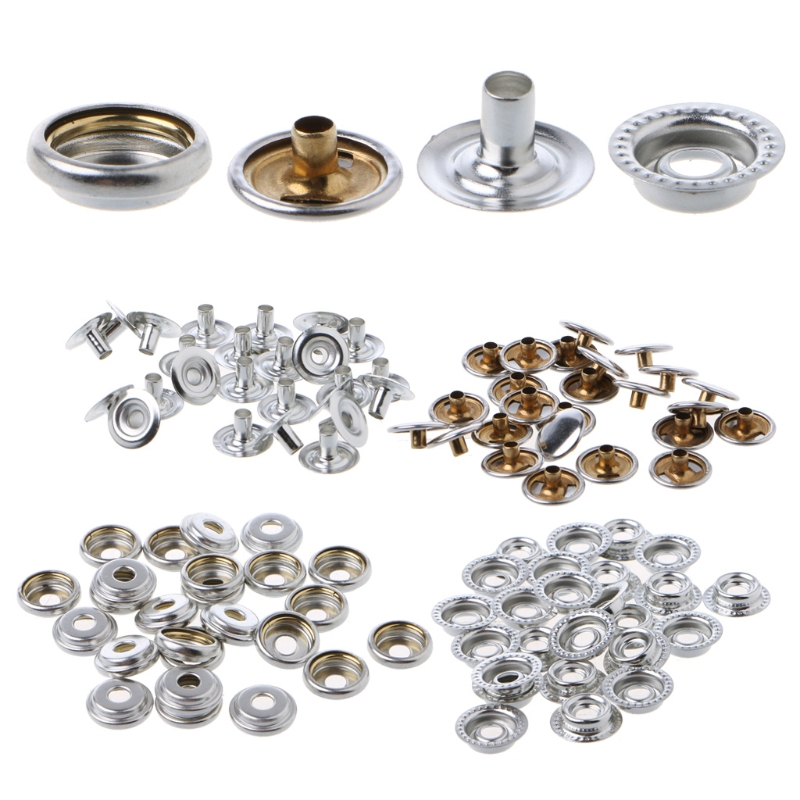 Stainless Steel Fastener Snap Press Stud Cap Button Boat Marine TOP J0E6