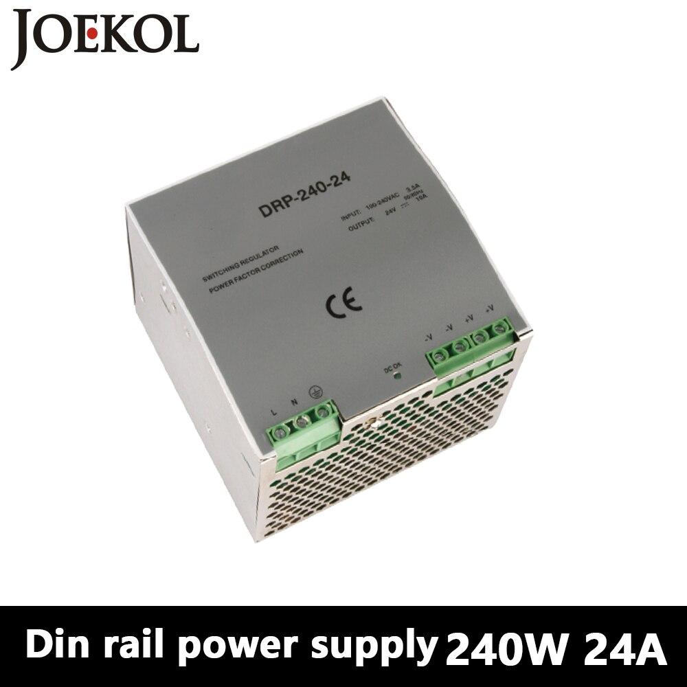 DR-240 Din Rail Power Supply 240W 24V 10A,Switching Power Supply AC 110v/220v Transformer To DC 24v,ac dc converter<br>