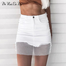 Buy DeRuiLaDy women Vintage black pencil skirt Fashion streetwear metal button zipper short skirt 2017 New autumn mini skirts womens for $19.78 in AliExpress store