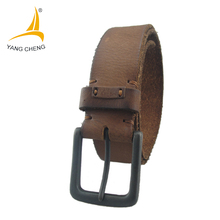 [CNYANGCHENG] fashion100% Genuine Leather belts for men High quality pin buckle Strap male Jeans cowboy free shipping 2017(China)