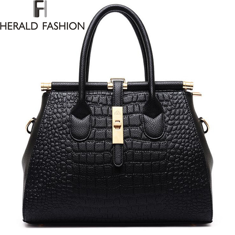 Alligator Women Bag Metal Lock Top-handle Bags Messenger Bags High Quality PU Leather Handbags Shoulder Bags Tote Herald Fashion<br><br>Aliexpress