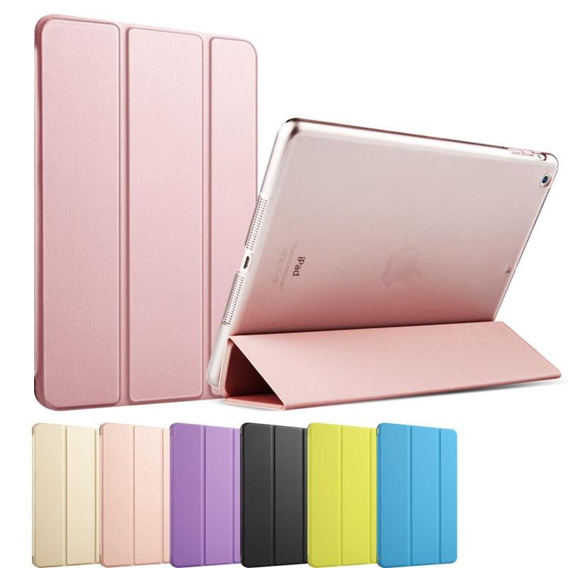 PU Leather Transparent Back smart case for iPad mi...