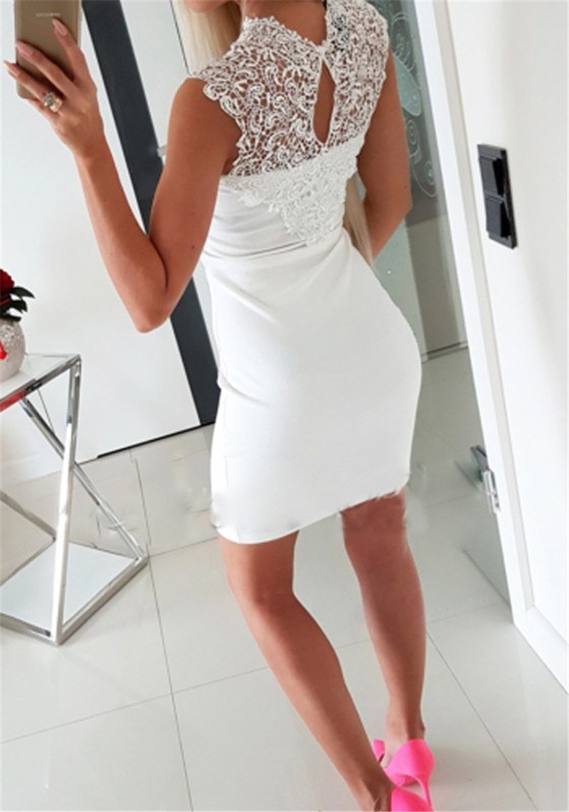 white-patchwork-lace-cut-out-round-neck-mini-dress