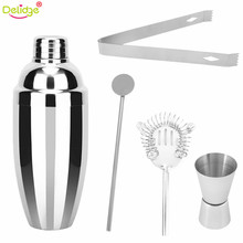 Delidge 5 pcs/set 750ml Cocktail Shaker Cocktail Making Tools Stainless Steel Clip Cup Swizzle Sticks Bartender Bars Tools(China)