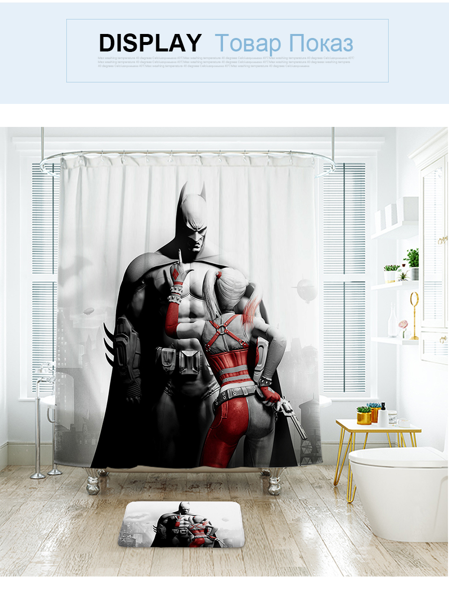 2019 Ibano Marvel Shower Curtain Waterproof Polyester Fabric Bath Curtain For The Bathroom With Plastic Hooks Floor Mat From Sophine09 29 81
