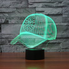 MLB Team Logo 3D Light LED SEATTLE MARINERS Baseball Sport Cap LED Night Light 7 Color Lamp New Year Gift for Children 3481