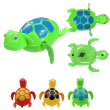 Plastic Swimming Turtle Wind Up Clockwork Tortoise Toys Shower Bath Baby Kids Cartoon Clockwork toy turtle Toys