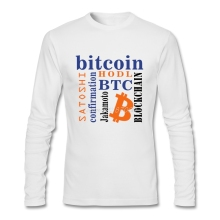 Buy Bitcoin T Shirt Custom Long Sleeve Men's T-shirt Popular Camiseta Masculina O-neck Cotton T Shirts Fitness Men for $16.20 in AliExpress store