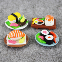 Free Shipping 8pcs/set Fashionable Sushi Shape Cake Ornament Present mini Trendy Creative Decoration PVC Figure Toys Gift