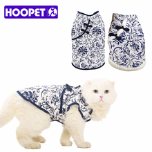 Exotic China Style Blue and White Porcelain Print Pet Clothes Thermal Thickened Size Winter Pet Coat for Small Dogs Dropshipping
