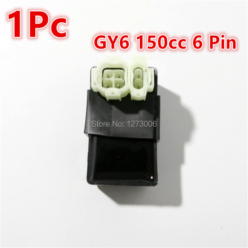 Brand New 1Pcs 6 Pin Motorcycle Stock CDI Ignition Box Chinese Scooter GY6 125CC 150cc ATV Part Car-styling Hot Sale Universal(China)