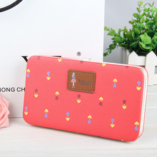 Fashion Lady Lunch Box Long Organizer Wallet Women Florral Printing Hasp Pu Leather 8 Colours 5.5 Inches Cellphone Clutch Wallet
