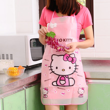 Creative Cartoon Cute Hello Kitty Doraemon Mickey Mouse Smiling Face Sanitary Baking Mats Coo Apron Household Cleaning Tools ED