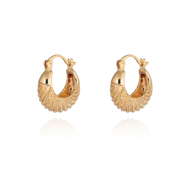 Qian Bian Erd18l Luxury Fashion Jewelry Simple Weaving Wedding Earring For S Lady