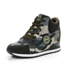 Canvas Shoes Camouflage Military women Casual Shoes Spring Autumn Breathable Camo Flats women(China)