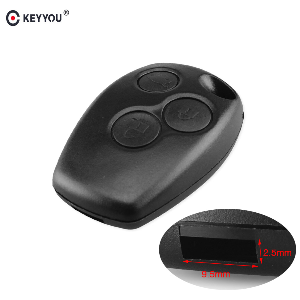 Hausnn Remote Key Shell Case Cover 3 Buttons Ne73 Blade For Renault Duster Logan Fluence Vivaro Master Traffic Kangoo Megane Auto Replacement Parts