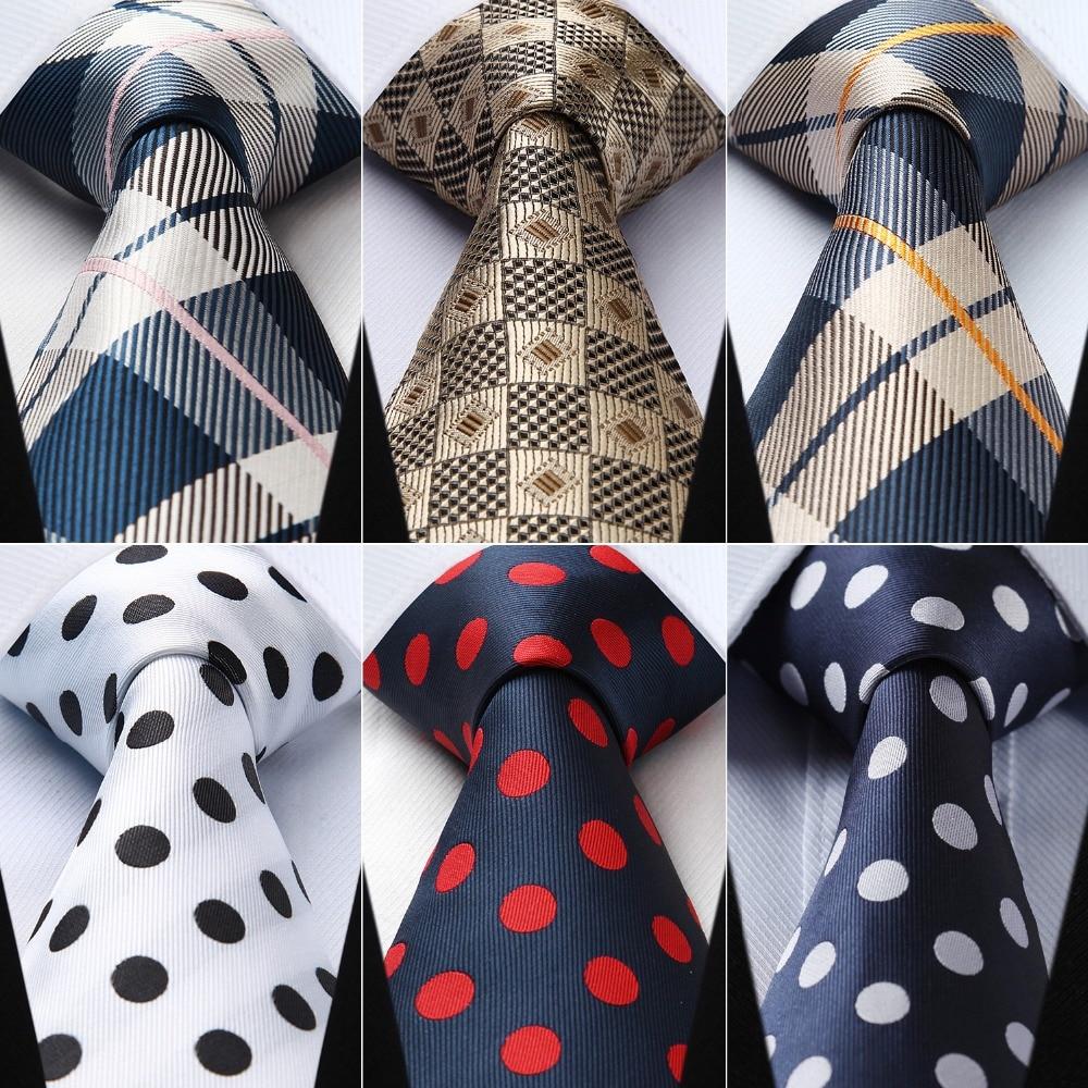 New Classic Polka Dot Black White JACQUARD WOVEN 100/% Silk Men/'s Tie Necktie