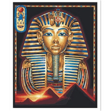 Egyptian Pharaoh Mask DIY Diamond Embroidery Needlework 3D Diamond Painting Cross Stitch Full Drill Rhinestones Painting ST53(China)