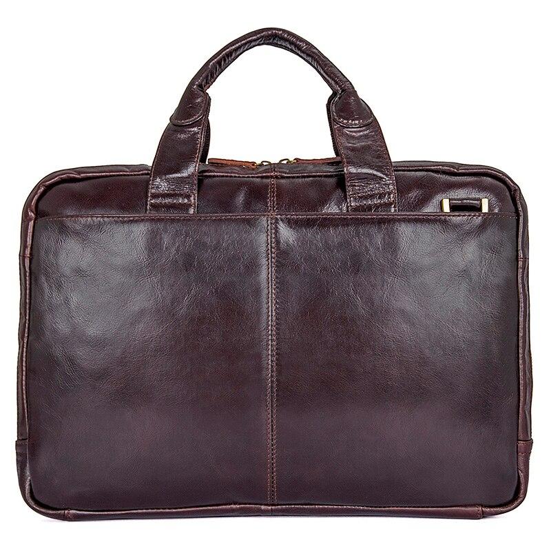 J.M.D 100% Genuine Leather Men's Laptop Bag Handbag Briefcase Messenger Bag 7092-3C