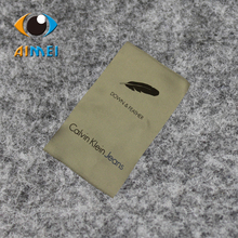 Customized 500pcs/lot center fold satin screen Printed care Label with brand logo, garment accessories, Free shipping