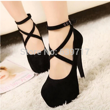 2017 Platform Shoes Woman New Designer Sexy Women Pumps Wedges Thigh Cheap High Heels Sandals Wedding Shoes Female Scarpin(China)