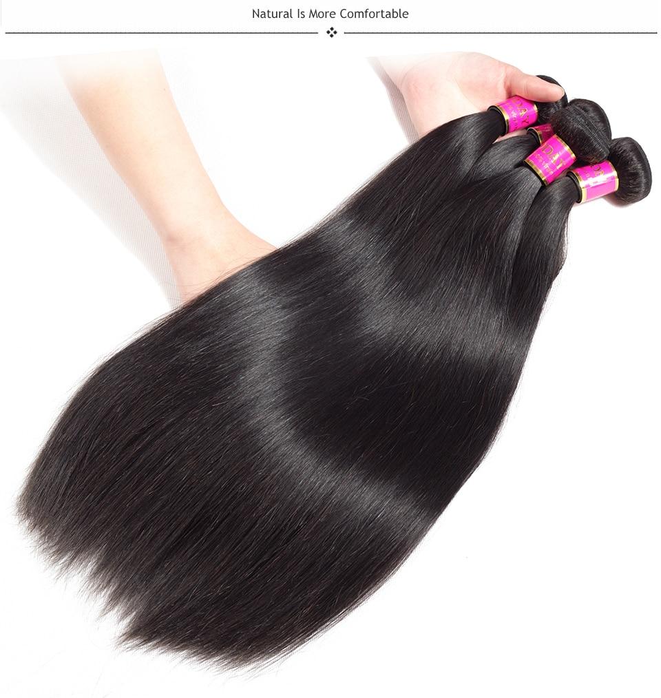 brazilian straight hair with closure