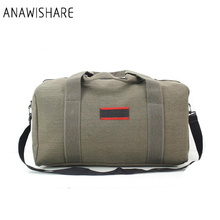 ANAWISHARE Women Travel Bags Canvas Large Capacity Men Luggage Travel Duffle Bags Folding Bag For Trip(China)