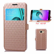 Gold Hotsale ultra-thin Phone case for Samsung Galaxy A5 (2016) SM-A510F (5.2 Pouces) pu leather Shock Proof Card Holder Cover(China)