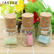 SHANDIAN Glass Bottle with Cork USB Flash Drive (Transparent) 100% Full Capacity 4GB 8GB 16GB 32GB special gift for lovers