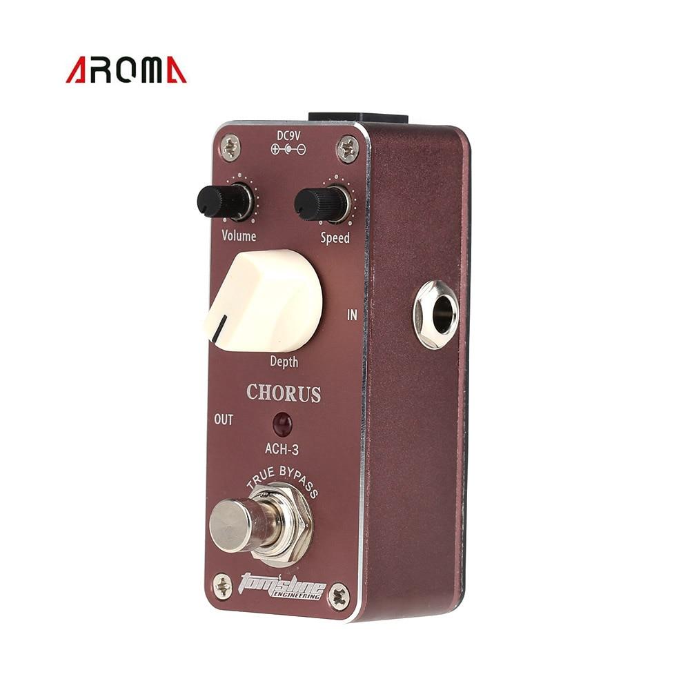 Aroma ACH-3 Mini Chorus Electric Guitar Effect Pedal Aluminum Alloy Housing True Bypass<br><br>Aliexpress