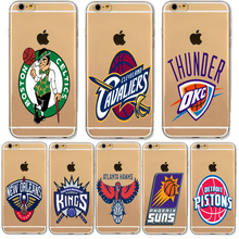 Hot Sale Basketball NBA Team Logo Soft Silicone Phone Cases For iphone 5C Samsung Galaxy S3 S4 S5 S6 S7 Edge S8 J5 Prime A5 2017